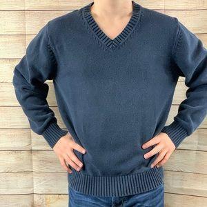 Lands End Drifter Navy V-neck Sweater